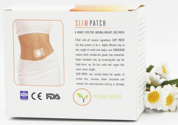 slim patches packaging rear image