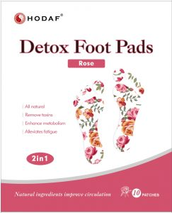 Rose Detox Foot Pads 2 in 1 Hodaf image