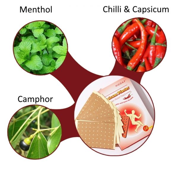 active ingredients include chillie, capsicum, menthol and camphor image