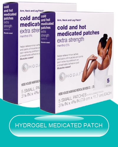 hydrogel cold and hot medicated patch pack image